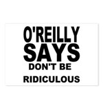 DON'T BE RIDICULOUS Postcards (Package of 8)