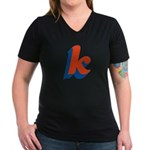 Candice 'k' Women's V-Neck Dark T-Shirt