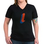 Candice 'l' Women's V-Neck Dark T-Shirt
