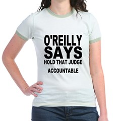 HOLD THAT JUDGE ACCOUNTABLE Jr. Ringer T-Shirt