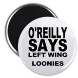 "LEFT WING LOONIES 2.25"" Magnet (10 pack)"
