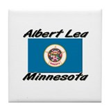 Albert Lea Minnesota Tile Coaster