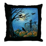 When Scarecrows Sleep Throw Pillow