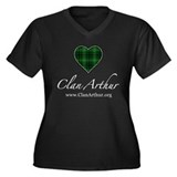 Love Clan Arthur Women's Plus Size V-Neck Dark T-S