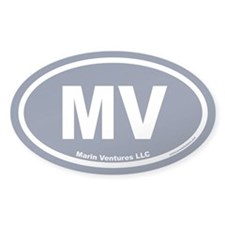 Marin Ventures LLC MV Euro Oval Decal