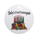Baby's First Kwanzaa Ornament (Round)