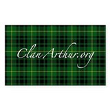 Clan Arthur - Just Tartan Rectangle Decal