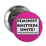 Feminist Knitters Unite 2.25&quot; Button (10 pack)
