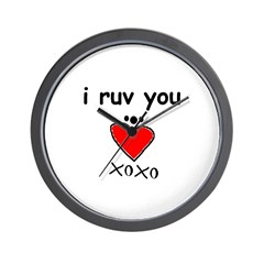 i ruv you Wall Clock