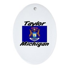 Taylor Michigan Oval Ornament