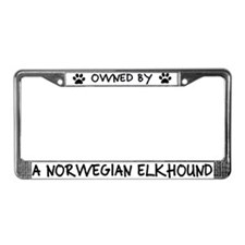 Owned by a Norwegian Elkhound License Plate Frame