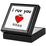i ruv you Keepsake Box