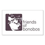 Friends of Bonobos Rectangle Sticker