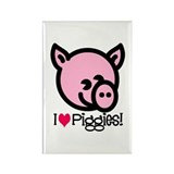I Love Piggies! Rectangle Magnet