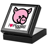I Love Piggies! Keepsake Box