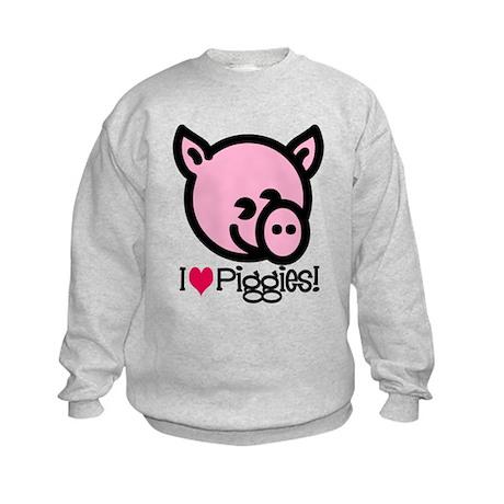I Love Piggies! Kids Sweatshirt
