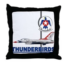 F-16 Thunderbirds Throw Pillow