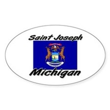 Saint Joseph Michigan Oval Decal