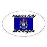 Rogers City Michigan Oval Decal