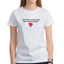 mom's heart women's t-shirt