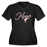 Breast Cancer - Hope Women's Plus Size V-Neck Dar