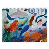 Mermad Art Wall Calendar 2013