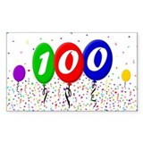 100th Birthday Rectangle Decal