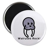 "Walruses Rock! 2.25"" Magnet (100 pack)"