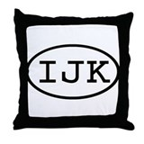 IJK Oval Throw Pillow