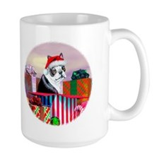 Boston Terrier Christmas Mug