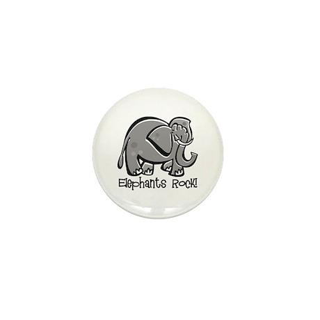 Elephants Rock! Mini Button (10 pack)