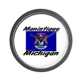 Manistique Michigan Wall Clock