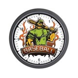 Fantasy Baseball Player Wall Clock