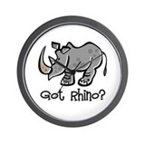 Got Rhino? Wall Clock