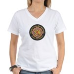 Orange County FD Pipes & Drum Women's V-Neck T-Shi