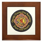 Orange County FD Pipes & Drum Framed Tile