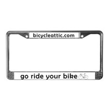 Funny Bicycles License Plate Frame