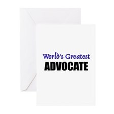 Worlds Greatest ADVOCATE Greeting Cards (Pk of 10)