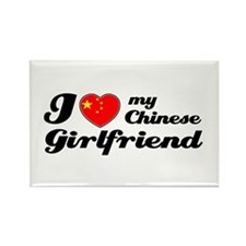I love my Chinese Girlfriend Rectangle Magnet