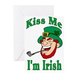 Kiss Me I'm Irish Greeting Cards (Pk of 10)