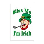 Kiss Me I'm Irish Mini Poster Print