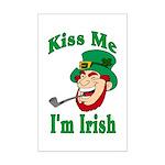 Kiss Me I'm Irish Mini Poster Print
