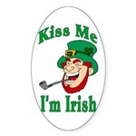 Kiss Me I'm Irish Oval Sticker