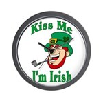 Kiss Me I'm Irish Wall Clock