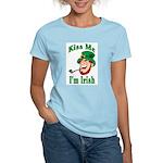 Kiss Me I'm Irish Women's Pink T-Shirt