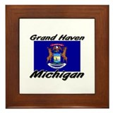 Grand Haven Michigan Framed Tile