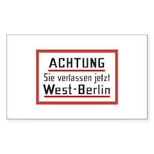 Sie verlassen jetzt West-Berlin Sticker (Rectangul