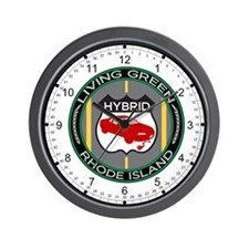 Living Green Hybrid Rhode Island Wall Clock
