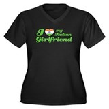 I love my Indian Girlfriend Women's Plus Size V-Ne