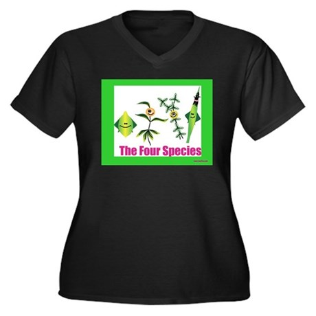 The Four Species Sukkot Women's Plus Size V-Neck D